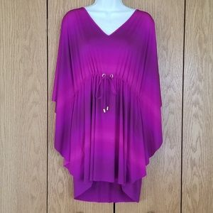 La Blanca Purple Medina Butterfly Swim Coverup S/M
